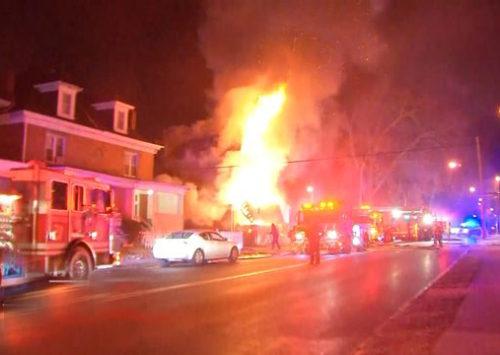 Ceiling fan malfunction sparks house fire in Danville, VA