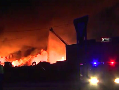 Large fire at Smurfitt Recycling Building on Highway 271 in Fort Smith