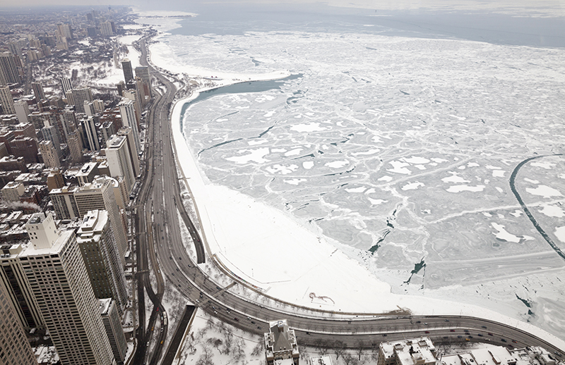 Chicago is so cold local businesses, schools, and government offices are closed due to extreme cold weather