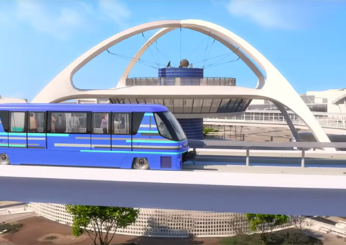 LAX is starting construction on an automated people mover shuttle that connects to 6 Metro Rail lines