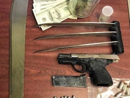 NYPD arrest man with Wolverine like steal claws, machete, gun, and drugs